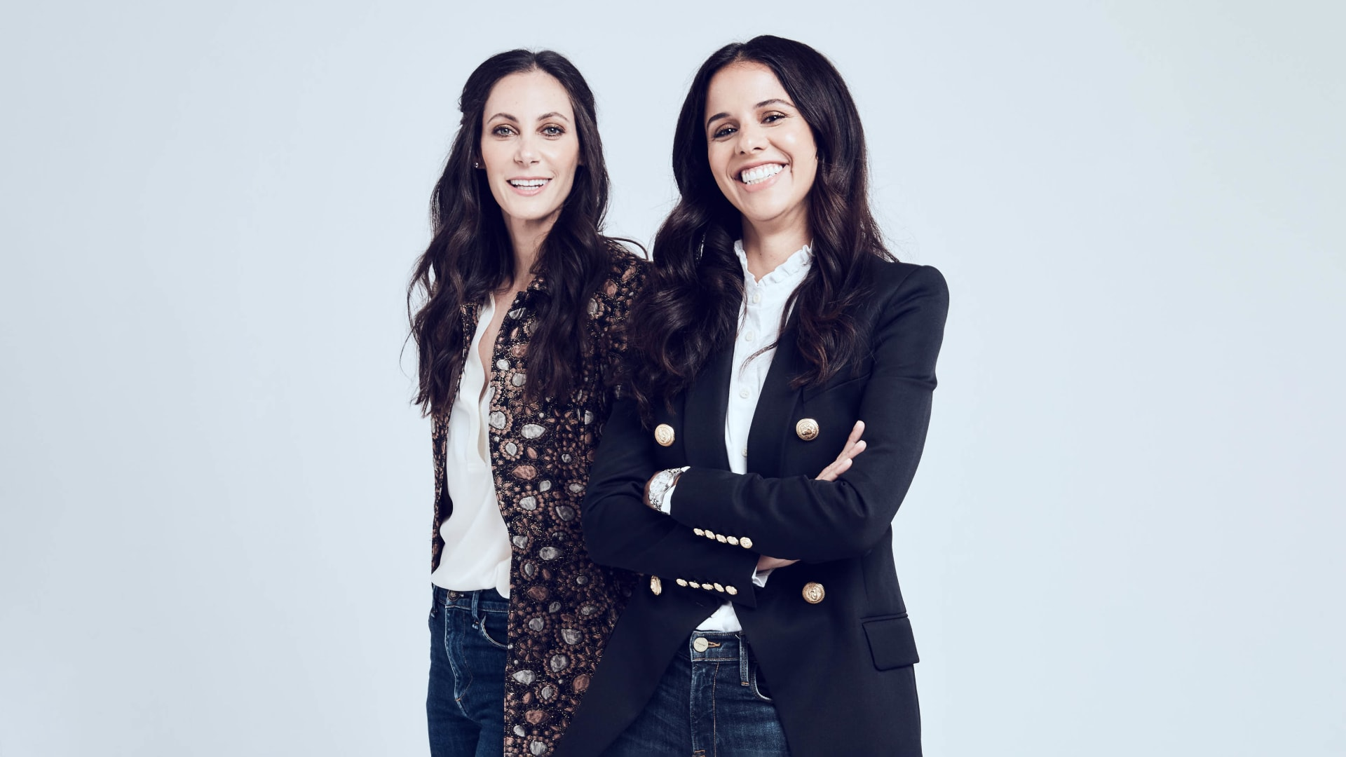 From Left: Heather Hasson and Trina Spear, Co-founders of Figs, which makes fashionable medical scrubs and masks