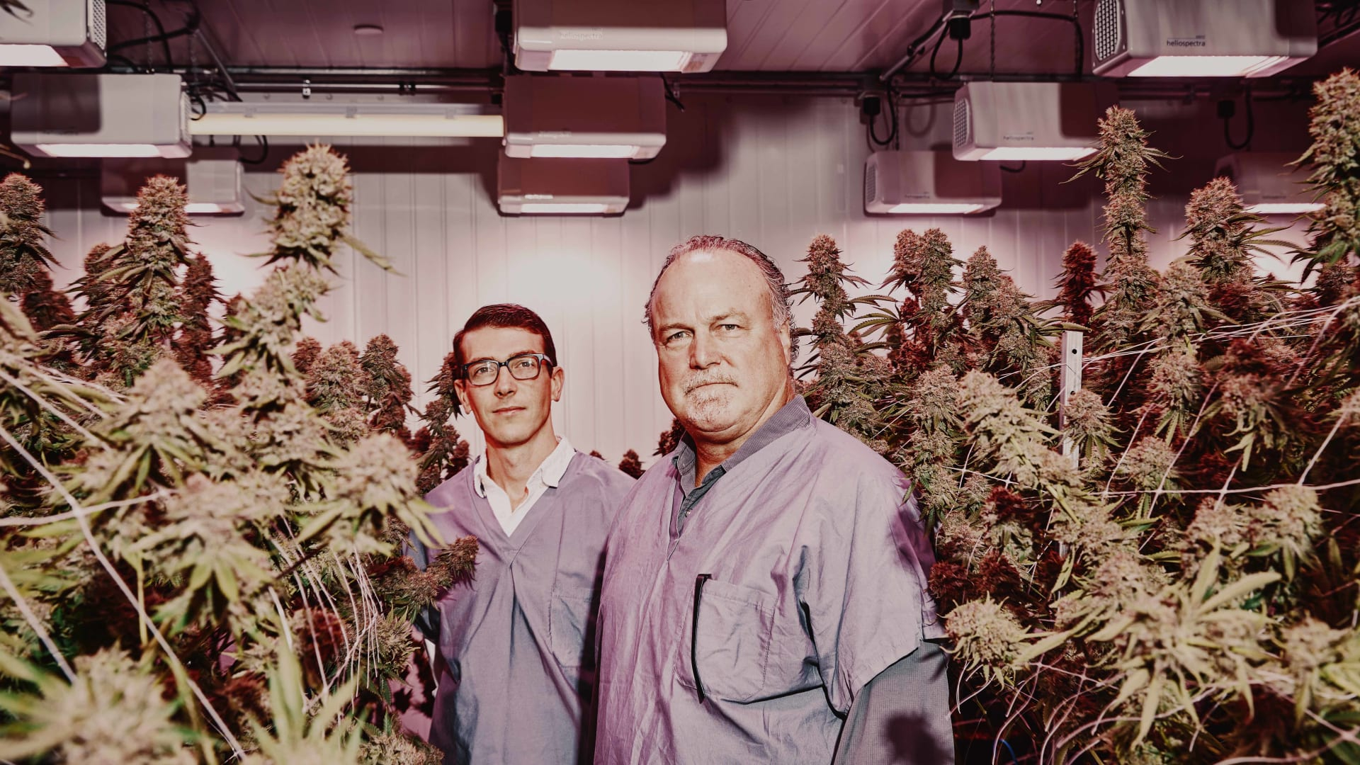 Ryan Ansin, co-founder (left), and Keith Cooper, CEO (right), at Revolutionary Farms.