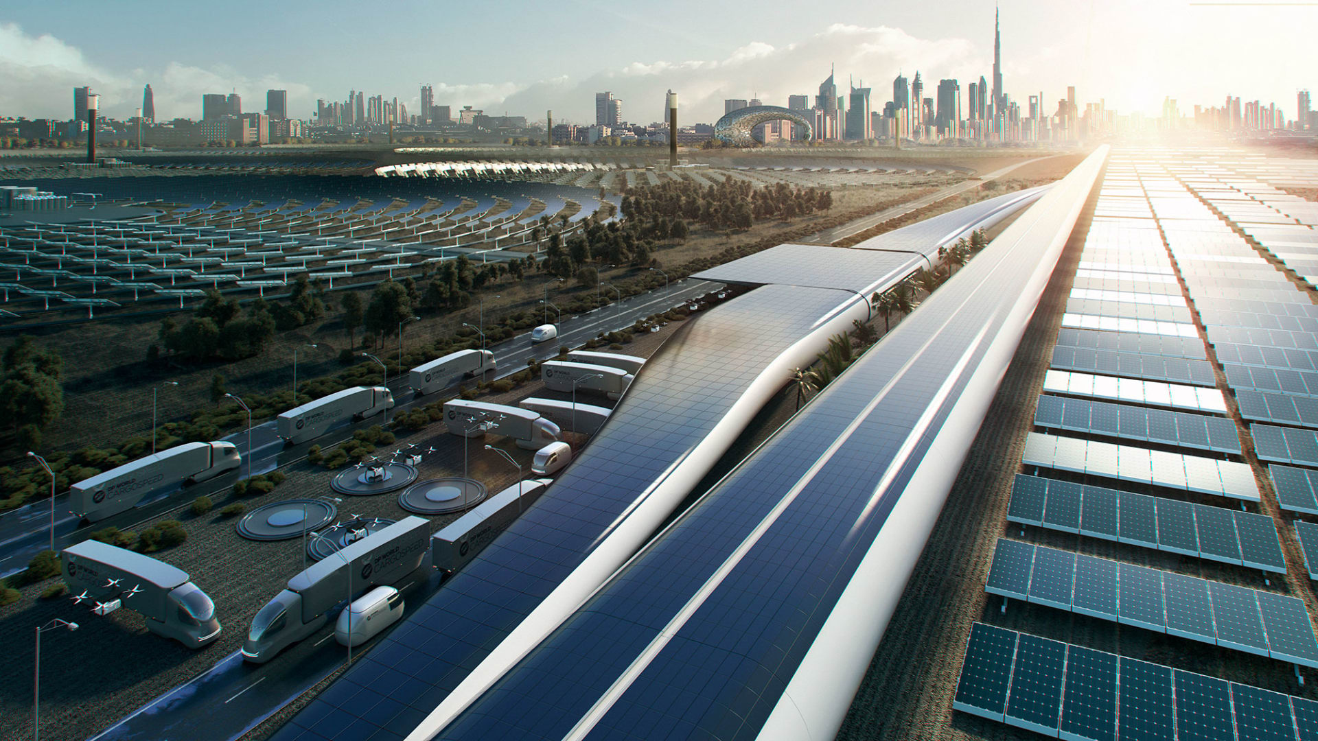 Virgin Hyperloop Cargospeed rendering.