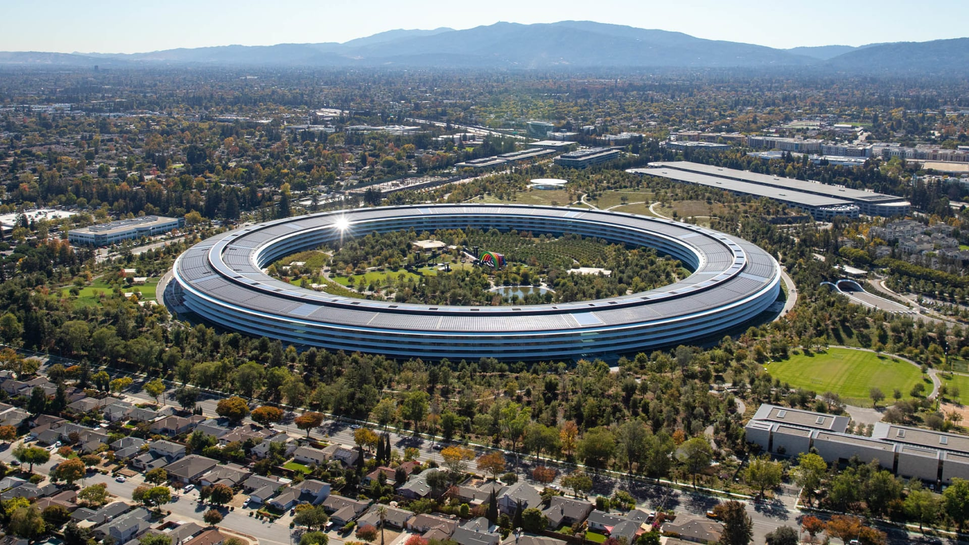 The Apple Park campus in Cupertino, California.