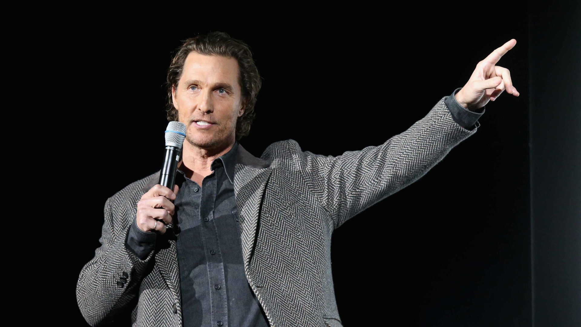 """Matthew McConaughey introduces a special screening of his new film """"The Gentlemen"""" at Hogg Memorial Auditorium at The University of Texas at Austin"""