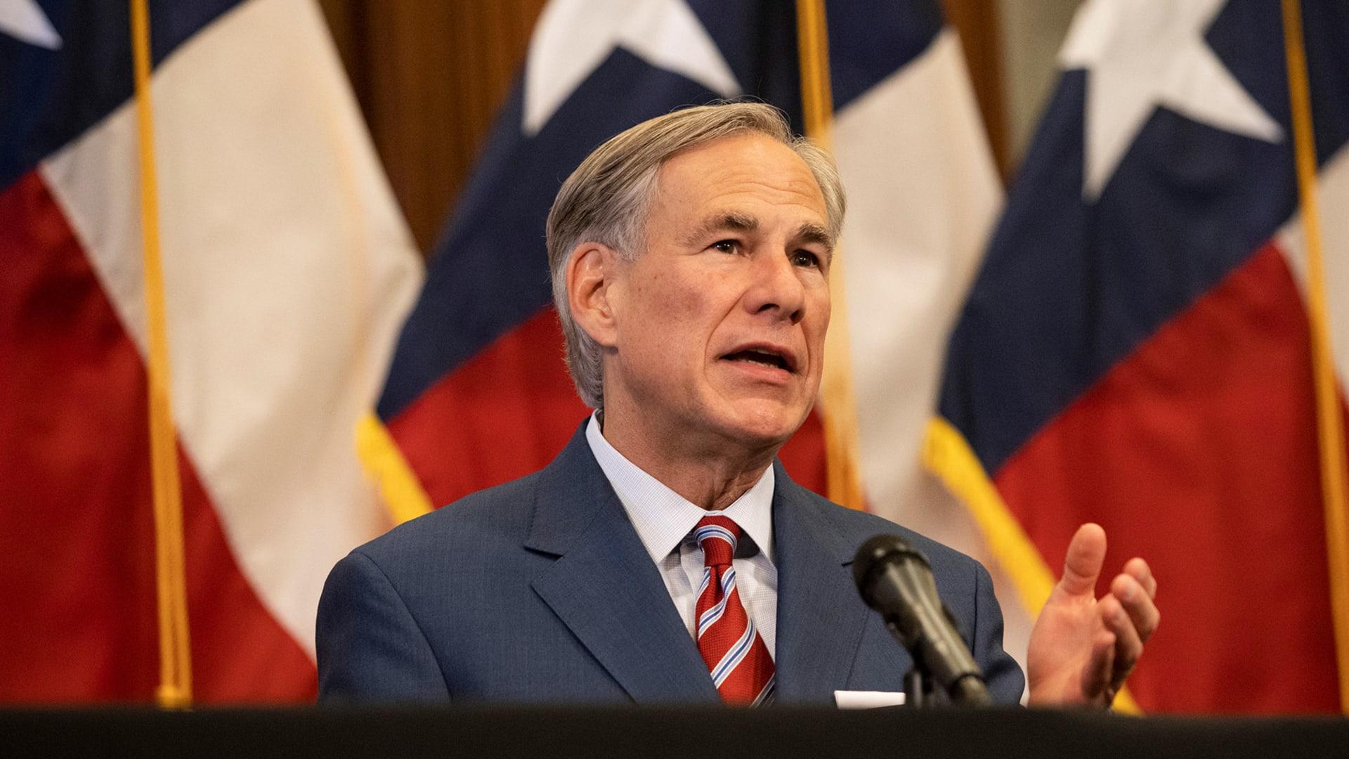 Texas governor Greg Abbott.