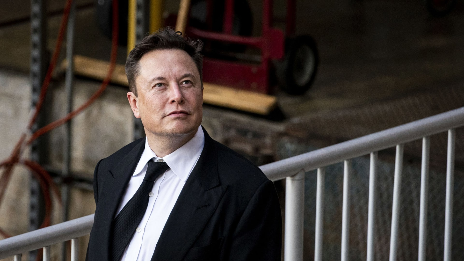 Elon Musk departs from court for the SolarCity trial in Wilmington, Delaware, on Monday, July 12, 2021.