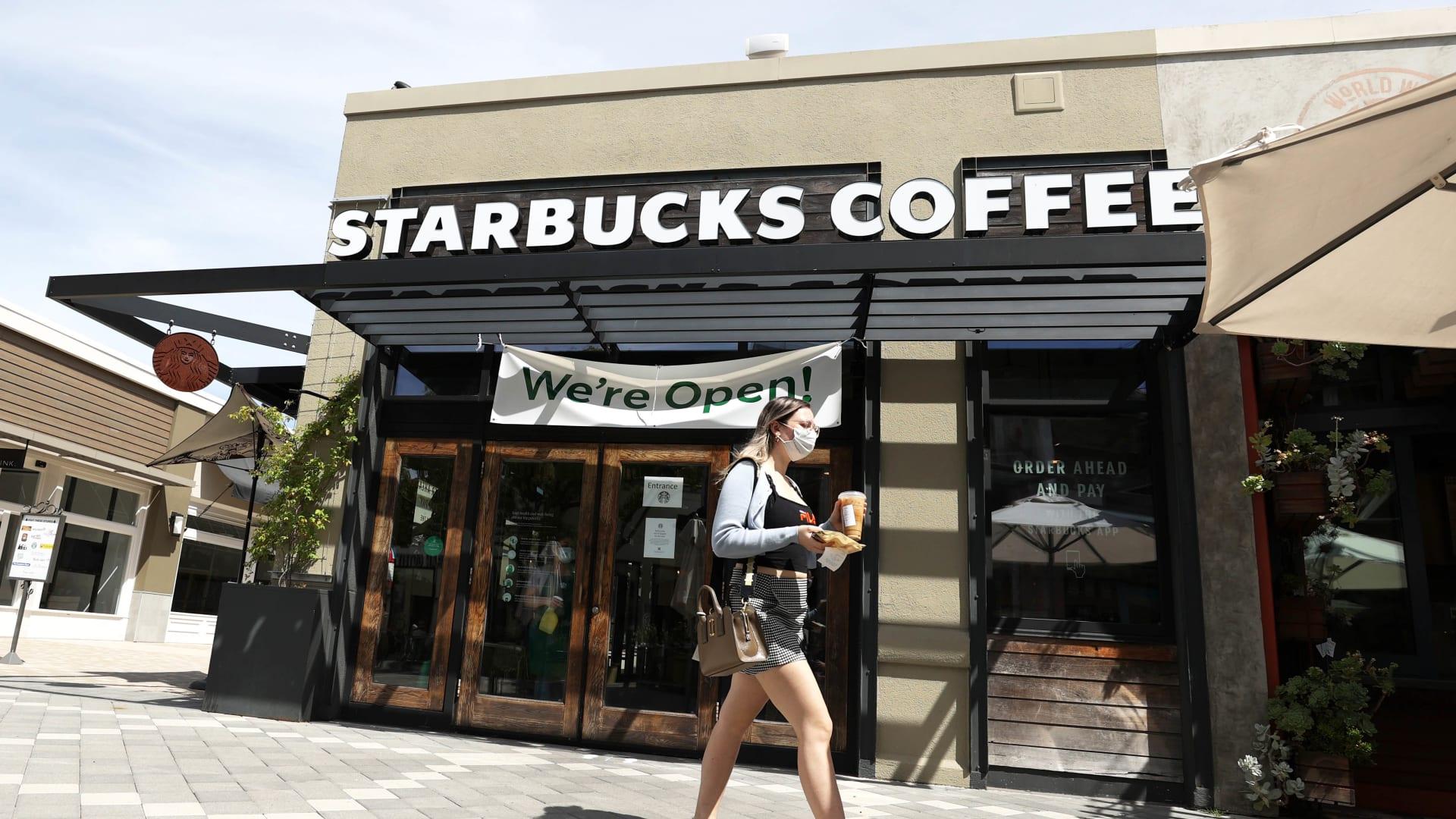 A Starbucks Coffee store in Corte Madera, California.