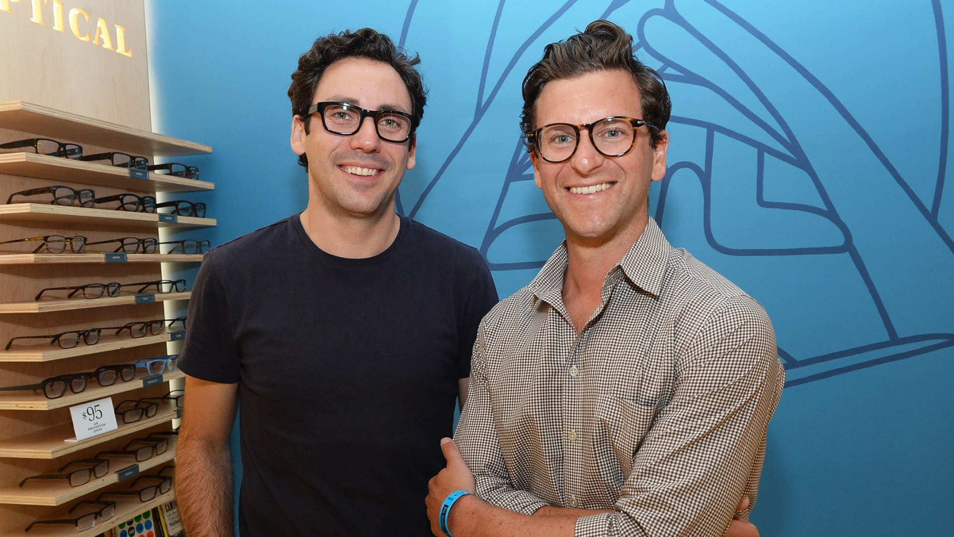 Warby Parker co-founders and co-CEO's Neil Blumenthal (L) and Dave Gilboa.