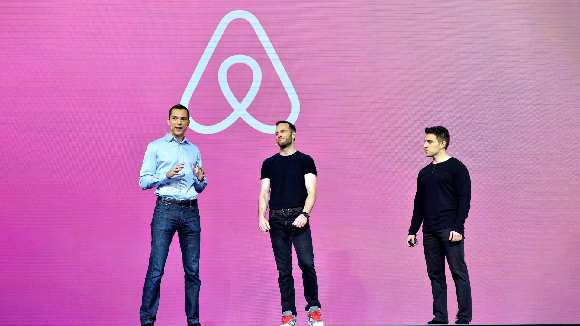 Airbnb founders Nathan Blecharczyk, Joe Gebbia, and Brian Chesky.