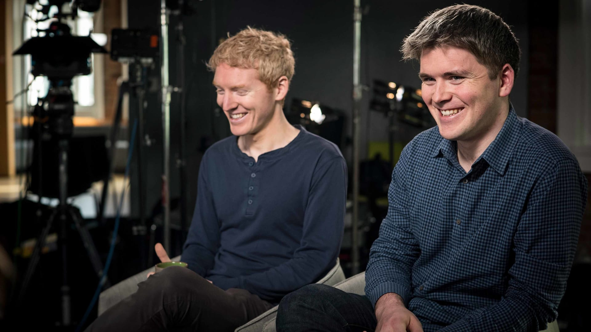 Patrick Collison, left, chief executive officer and co-founder, and John Collison, president and co-founder of Stripe.