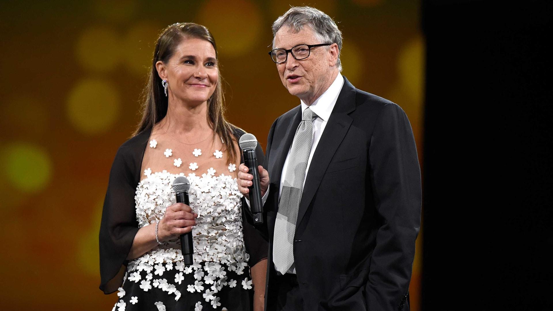 Melinda French Gates and Bill Gates.