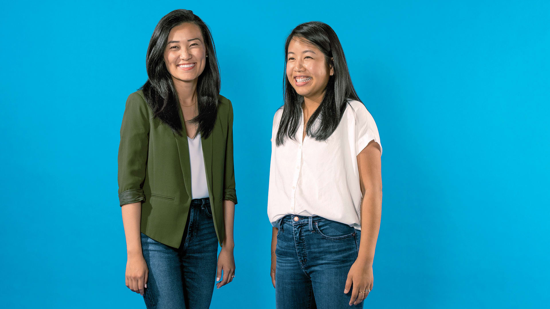 Michelle Zhu (left) and Tammy Hsu run Huue, a startup developing sustainable textile dyes to replace the ecologically destructive colorants the fashion industry uses.