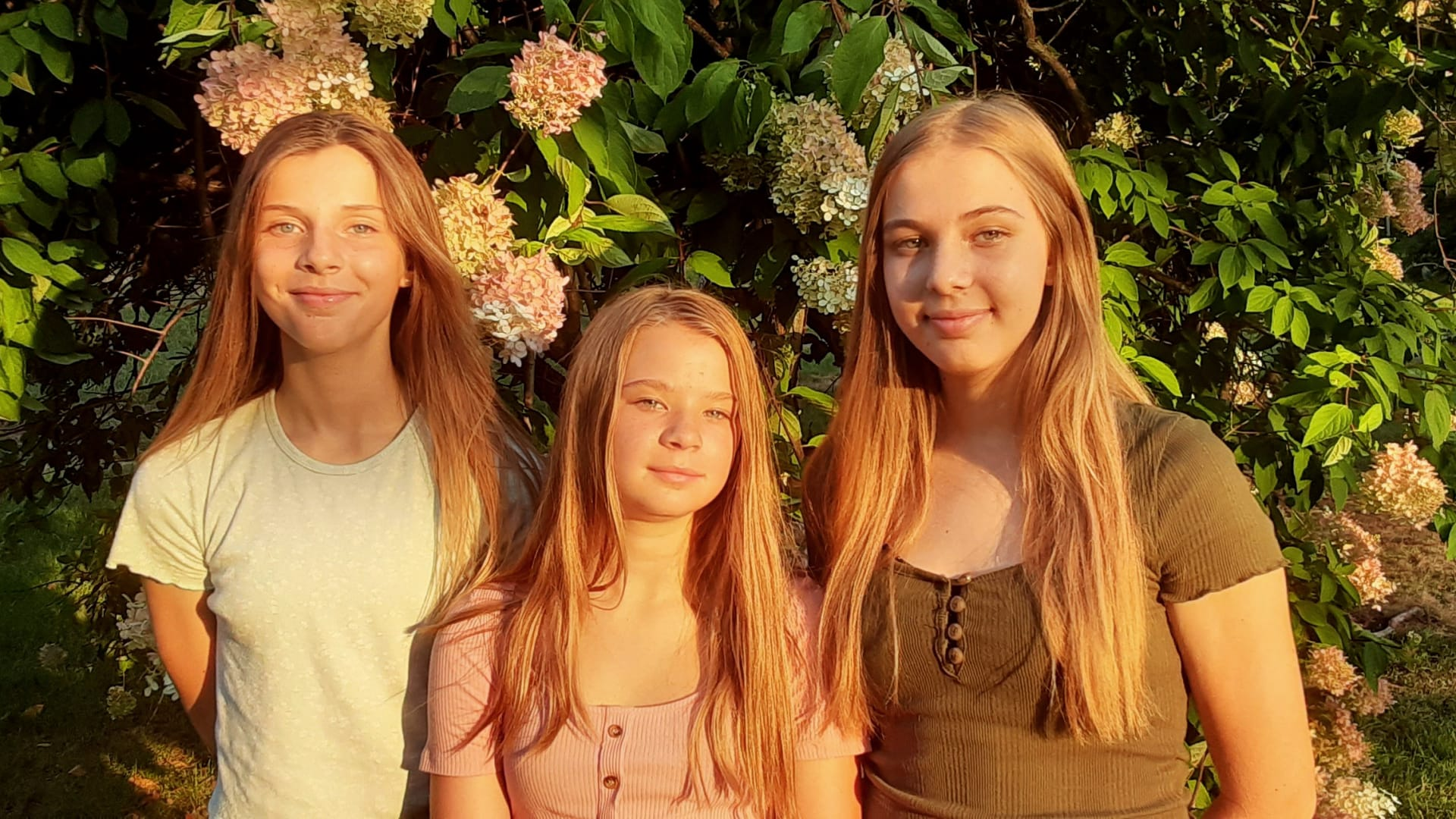 From left: Ashley, Keagan, and Kayla Serverius.