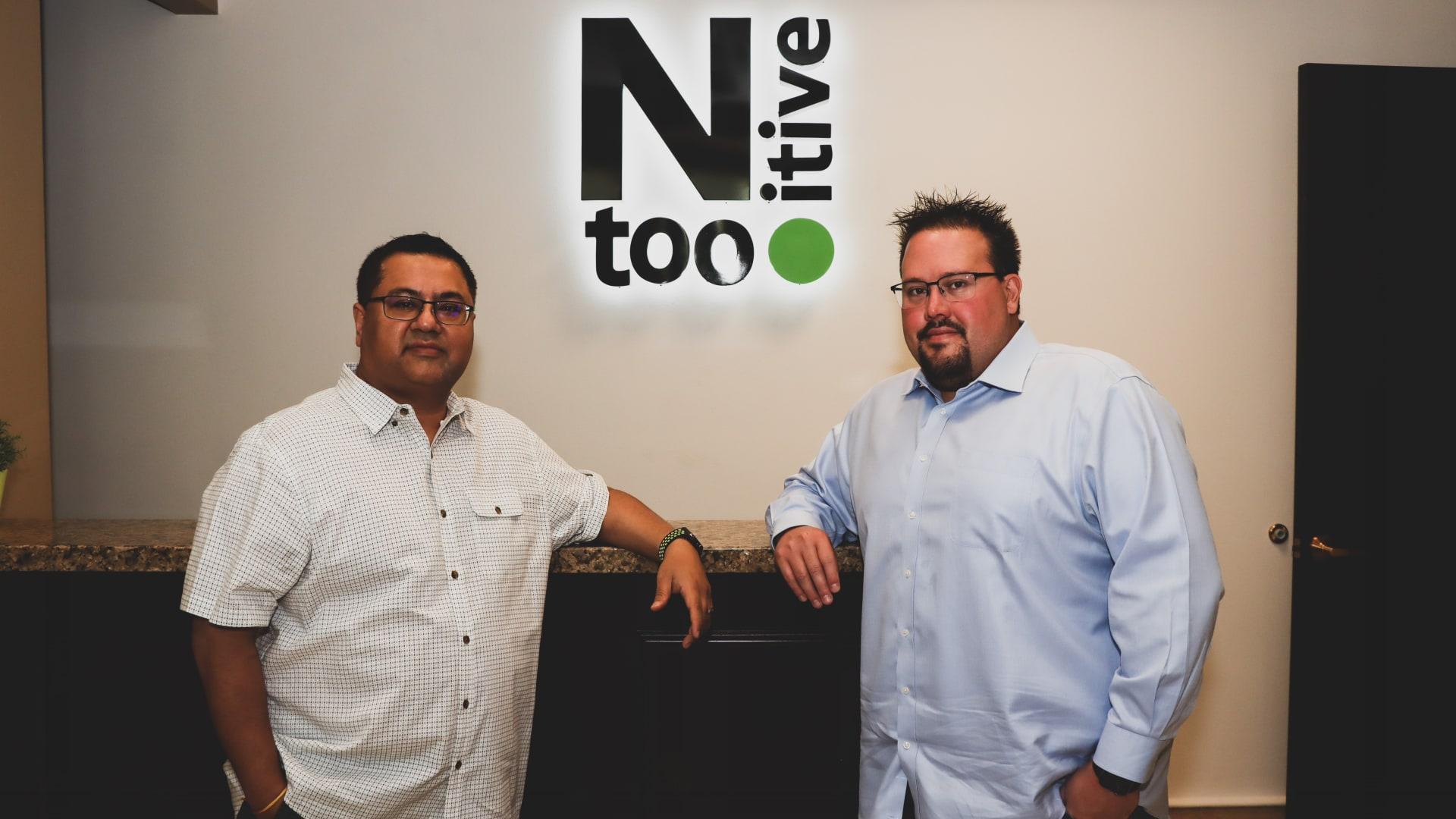 Co-founders of Ntooitive Digital: Ryan Christiansen (right) and Vikas Khorana