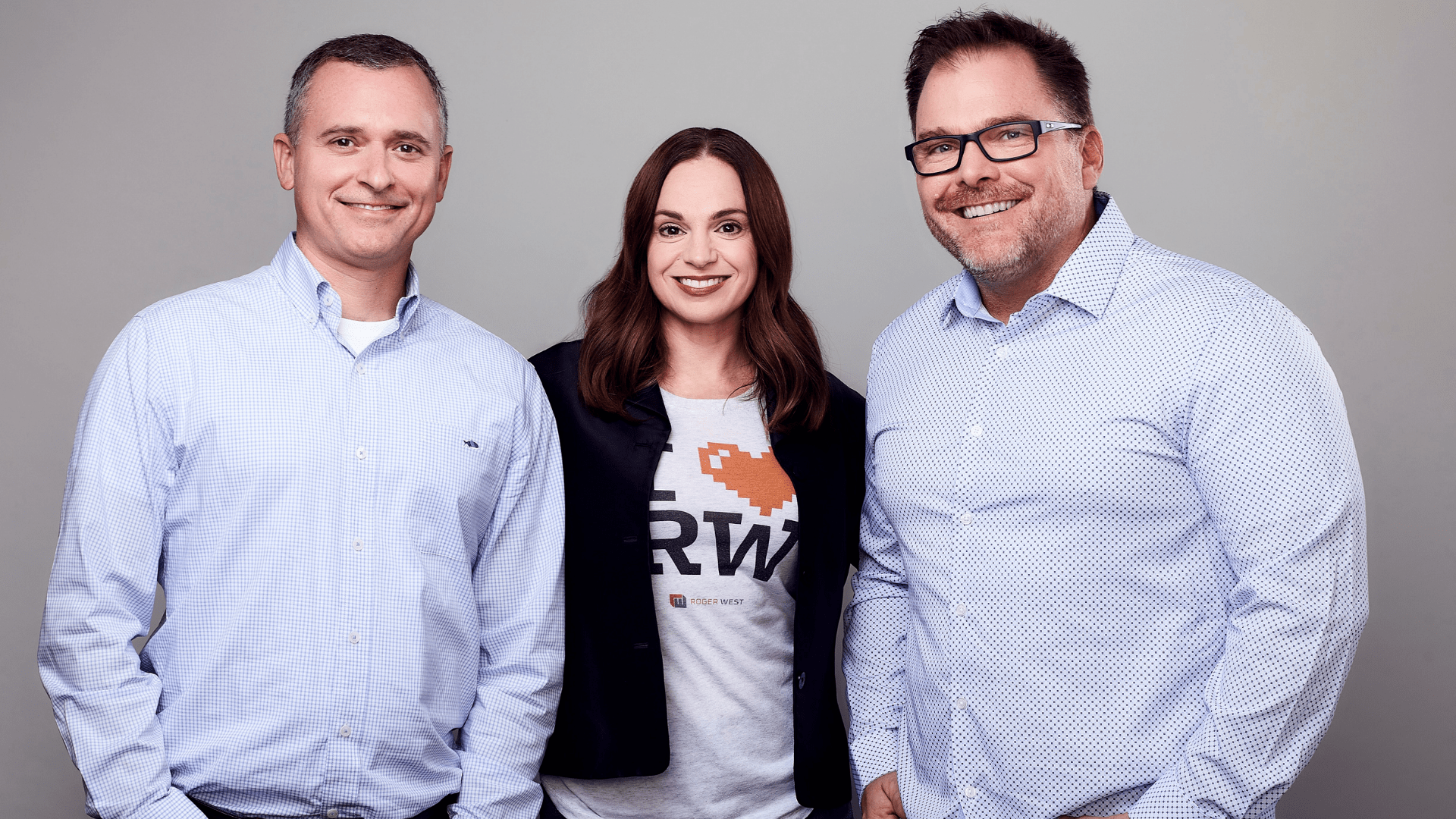 From left to right: Michael Trocke, chief creative officer; Jennie Treby, president; and Michael Westafer, founder and CEO
