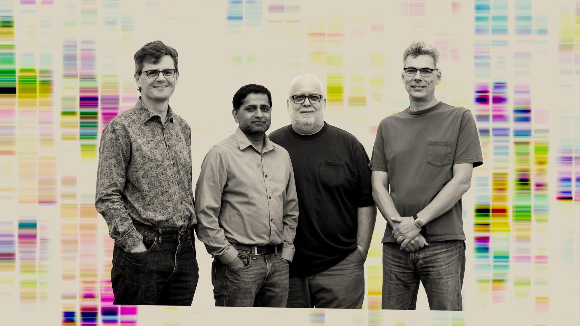 Left to right: Jeremy Minshull, Sridhar Govindarajan, Jon Ness, and Claes Gustafsson