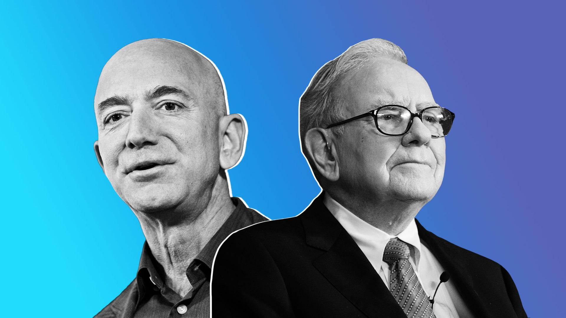 Jeff Bezos and Warren Buffett.