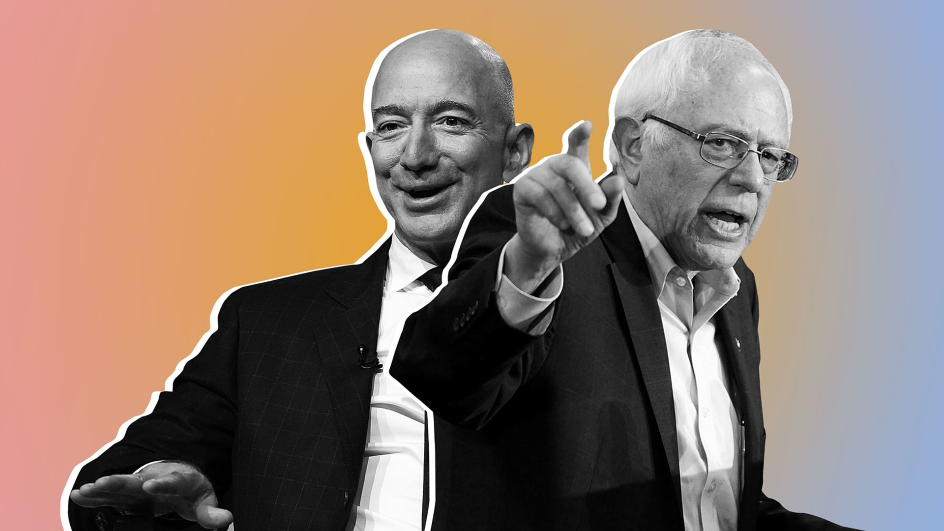 Jeff Bezos and Bernie Sanders.