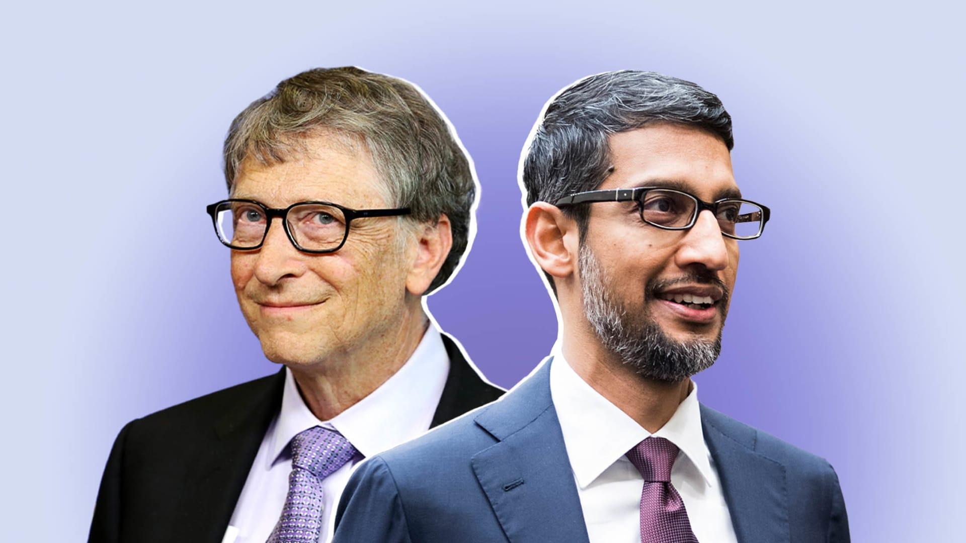 Bill Gates and Sundar Pichai.