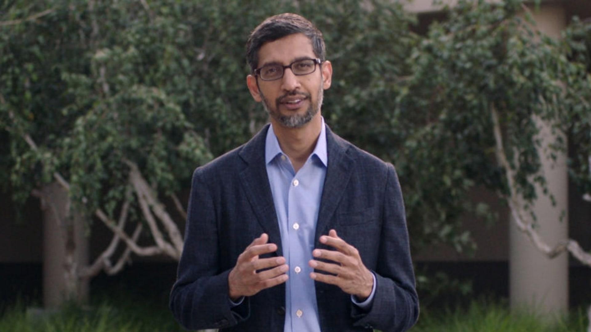 Google CEO Sundar Pichai.