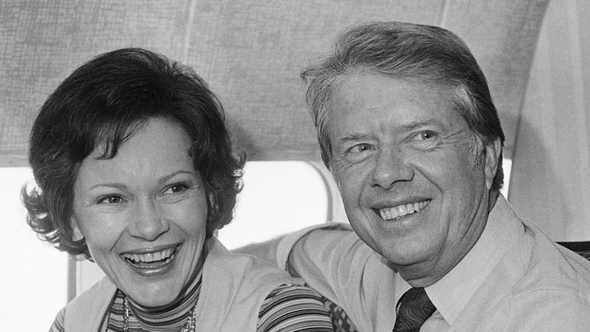 Jimmy and Rosalynn Carter during the 1976 presidential campaign