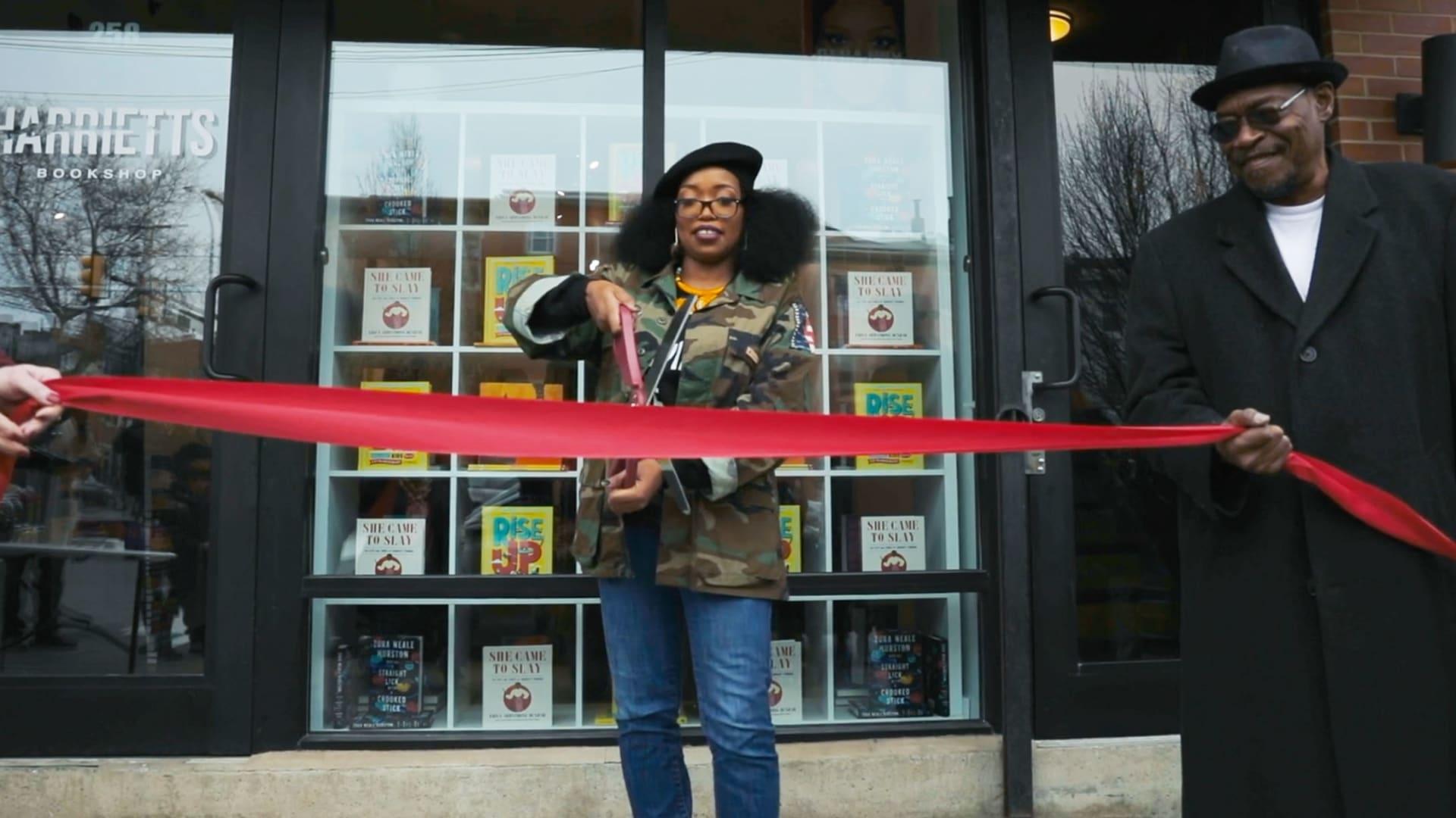 Jeannine Cook, Owner of Harriett's Bookshop.