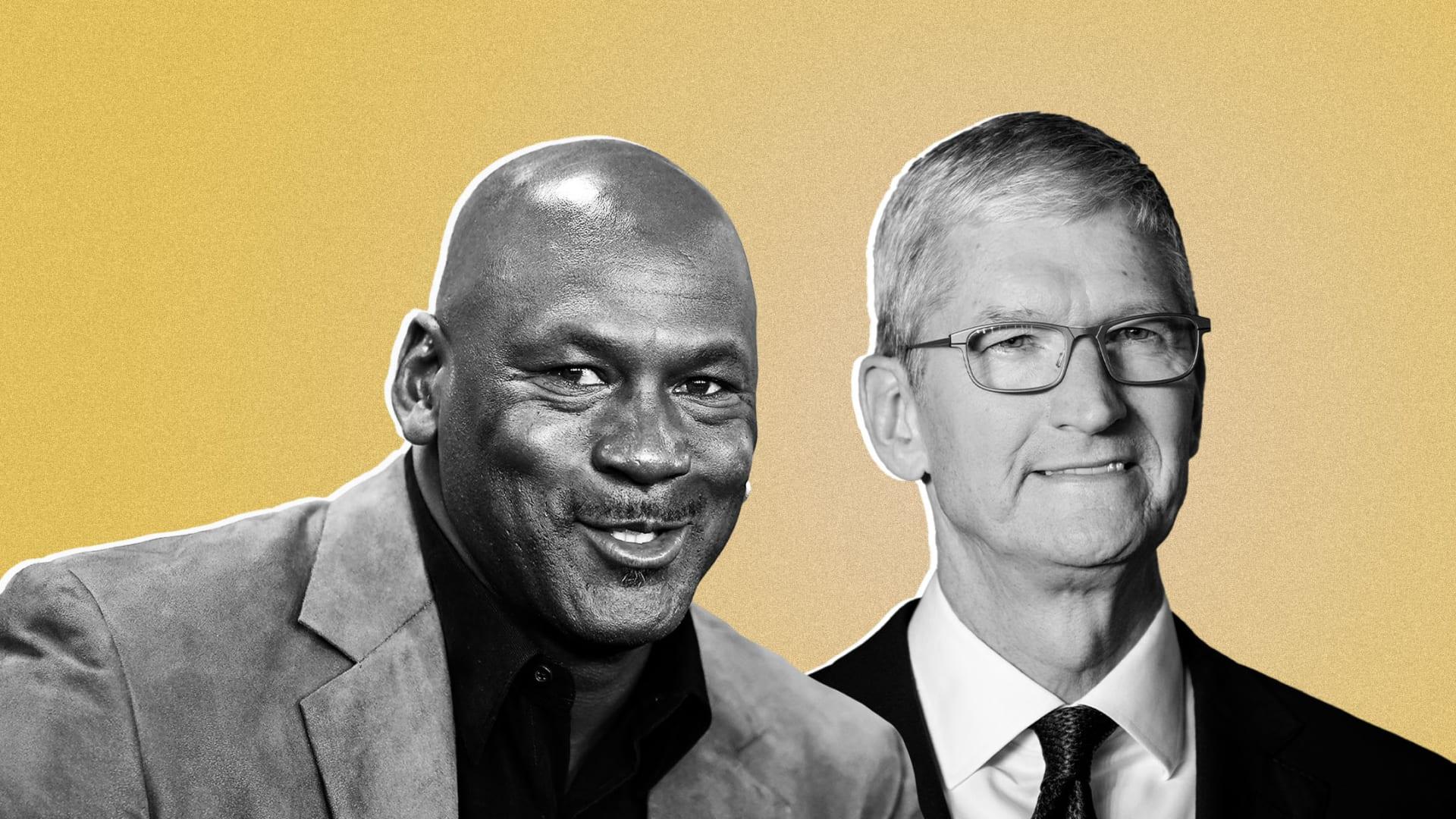 Michael Jordan and Tim Cook.