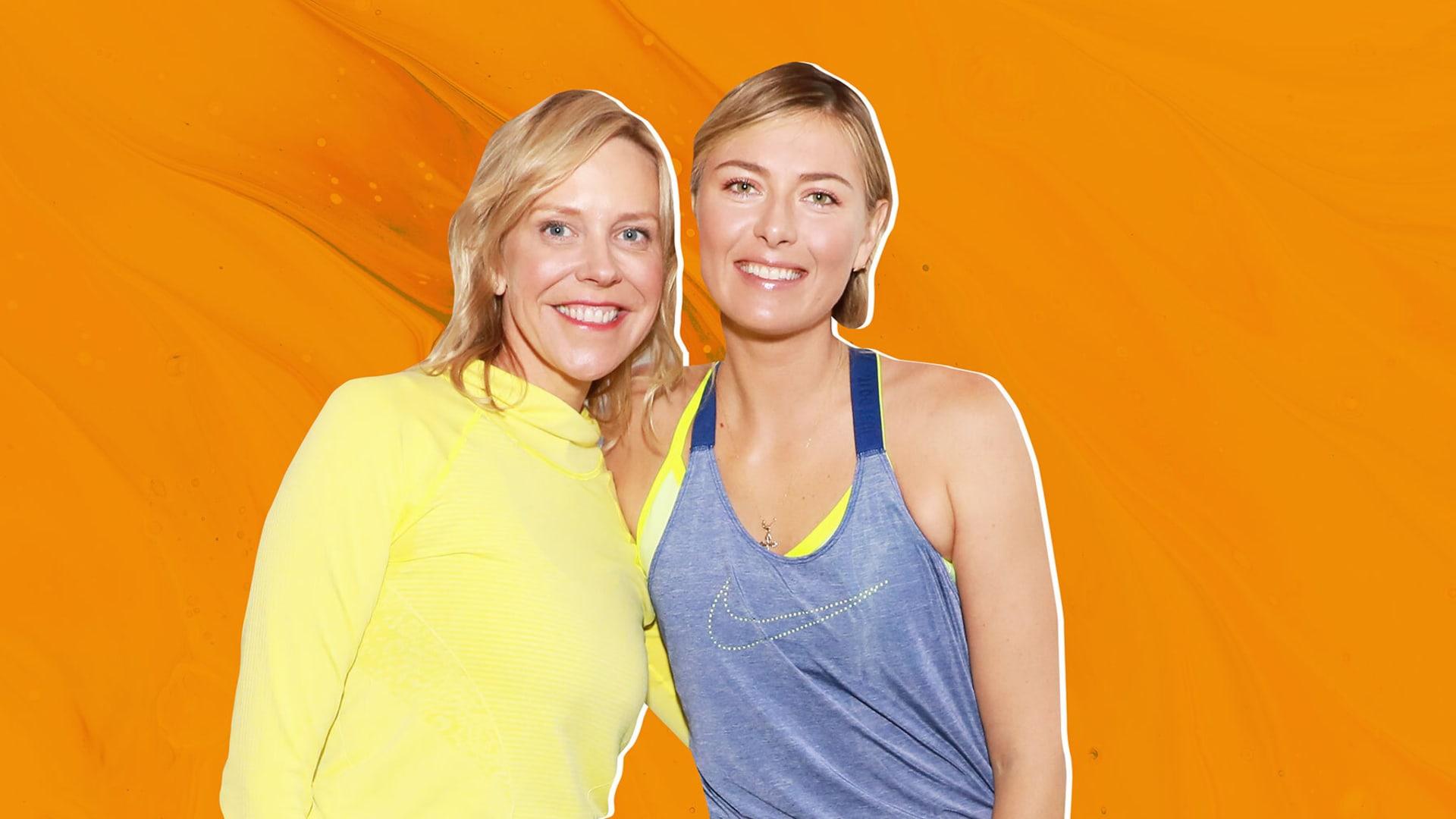 Holly Thaggard and Maria Sharapova.