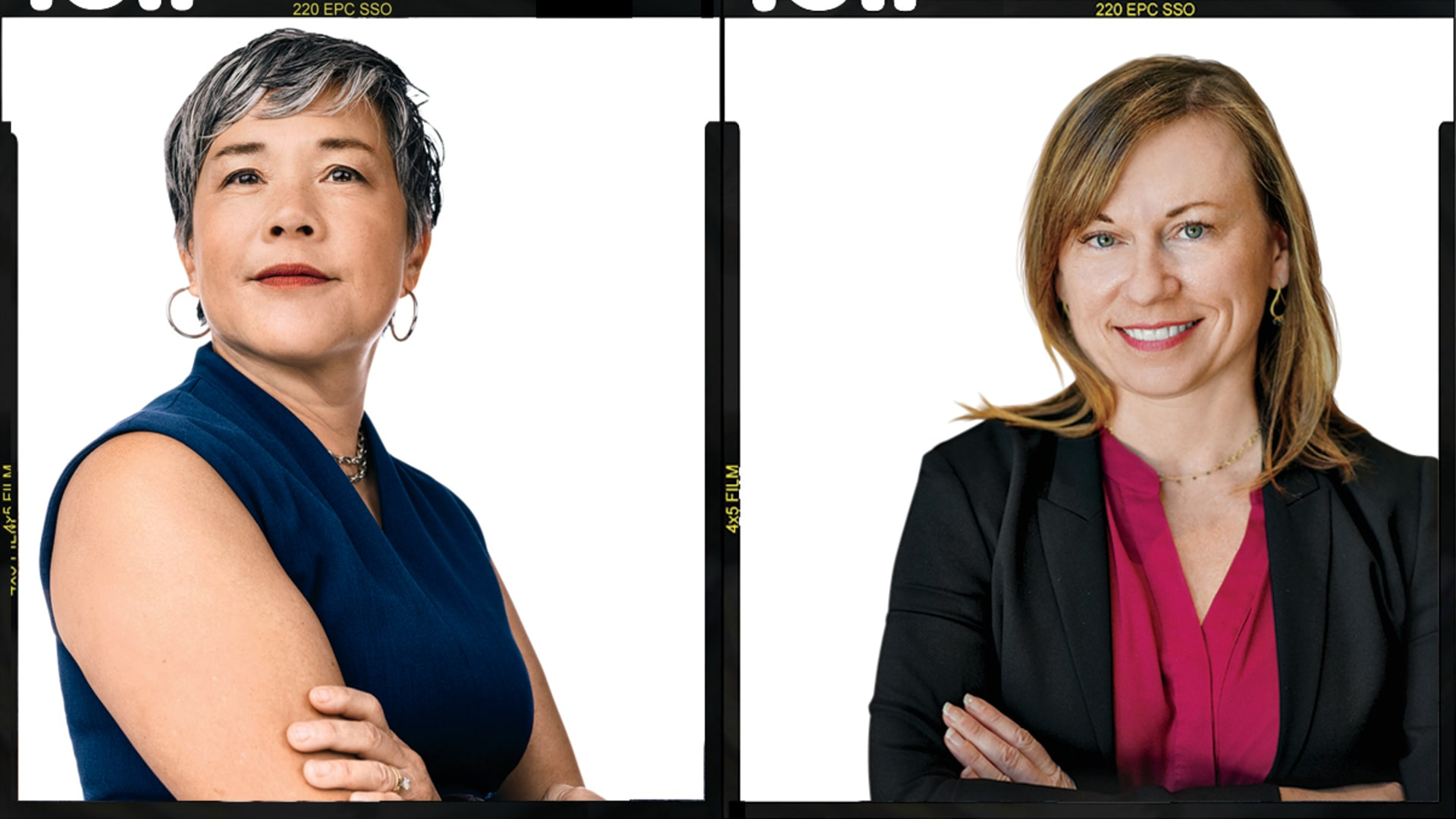 Intabio CEO Lena Wu (left) and Genoa Ventures founder Jenny Rooke. Photo credit: Anastasia Sapon (Wu); Courtesy subject.