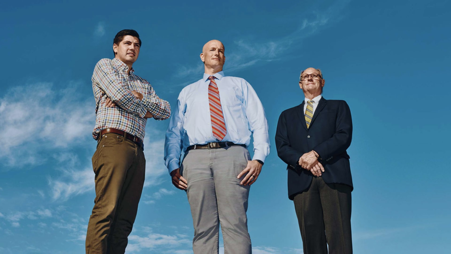 Derek McKenney, senior manufacturing engineer, Scott Wellman, interim general manager, and Timothy Templet, head of global sales, have helped make Puritan a hero of the pandemic. Templet's grandfather founded the company during the 1918 influenze pandemic