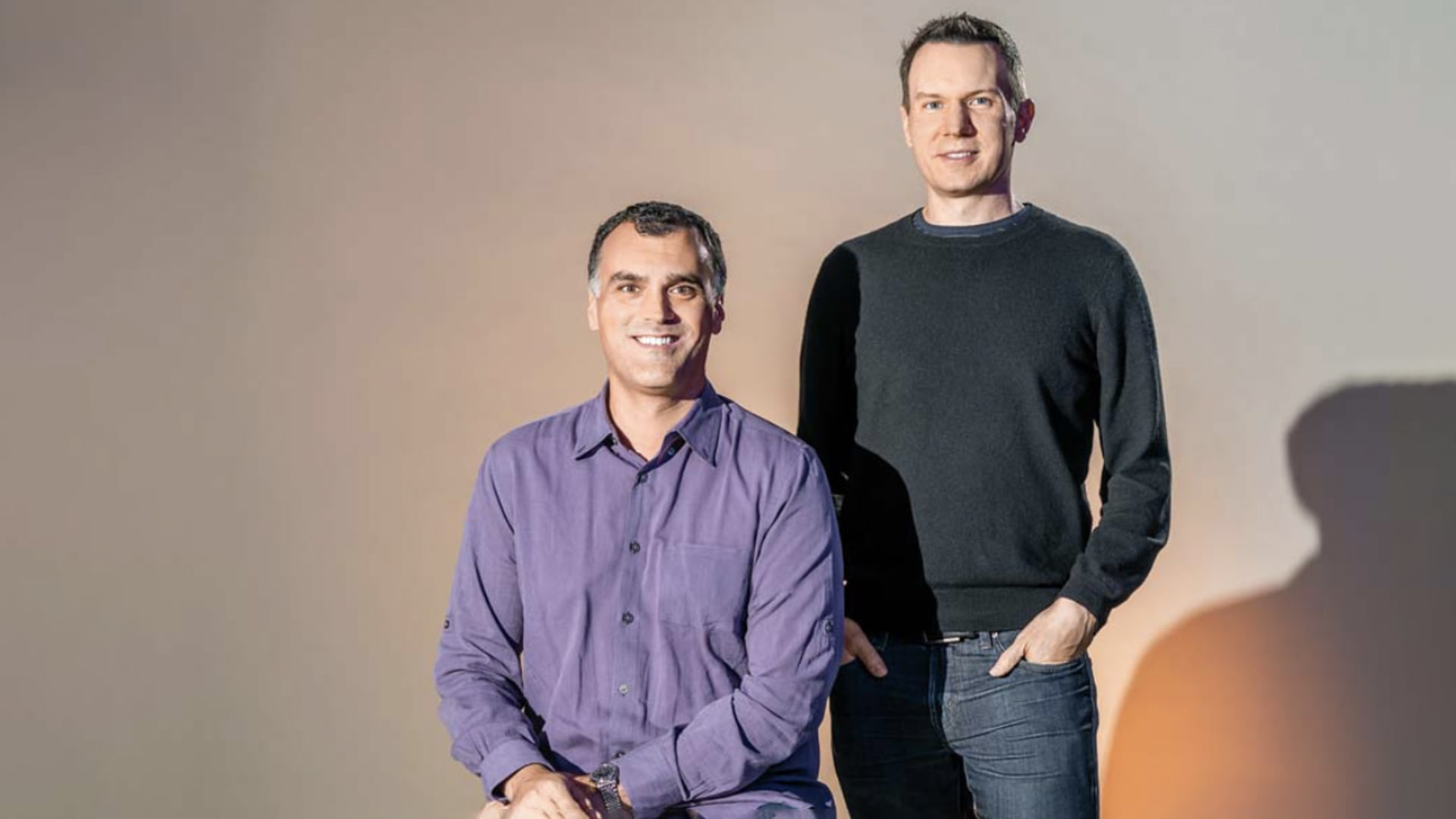 """The pandemic has shown Seesaw co-founders Carl Sjogreen (left) and Adrian Graham how much teachers rely on the platform. """"There's a psychological support we need to provide in this environment that we had no idea was part of our company six months before this,"""" Graham says"""